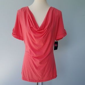 Susie Rose NWT Junior Women Coral Blouse XL 15-17